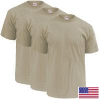 Soffe 3-Pack SAND OCP T-Shirt, 50/50 Cotton Poly Light Weight