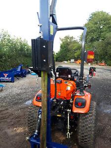 Post Knocker / Driver Hire 4 compact tractors & small farm tractors .