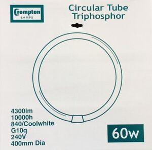 CROMPTON 60w CIRCULAR TUBE 4PIN COOL WHITE 4300 LUMENS T9 4000K G10Q