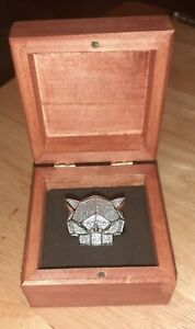 ICED PANTHER RING Sterling Silver Czs HEAVYWEIGHT UK SZ Y