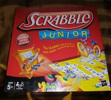 Scrabble Junior ~ The Classic Word Game ~ Hasbro ~ 2012 ~ 2 Sided Game Board