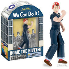 Rosie The Riveter Action Figure Ordinance Workers WWII Collectible Movable