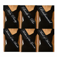 Black Team Bride Hen Night Do Party Sashes Bride To Be Bridesmaid Mother Of Sash