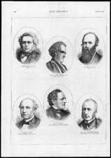 1875 antica stampa-Ritratto Tillett LEFEVRE Praed VALLON BUFFET Pasquier (G154)