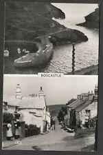 Postcard Boscastle nr Tintagel Cornwall two views RP