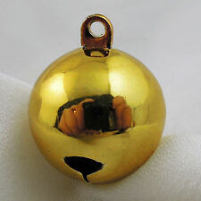 25MM Antiqued Gold Tone Brass Christmas Jingle Bell Craft Decoration 6pcs