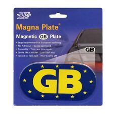 Travel Spot Magnetic Car Euro GB Great Britain Plate Badge Sticker EU Law