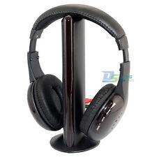 New 5 in 1 Hi-Fi Wireless Headset Headphone Earphone for TV DVD MP3 PC FM Radio