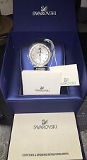 Swarovski black leather watch 90% new condition with tag