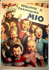 "TARGA VINTAGE ""FORMAGGINO MIO"" PUBBLICITA',ADVERTISING, POSTER, PLATE, ART RETRO"