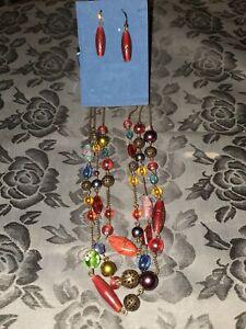Avon Multicolor Necklace & Earring Gift Set - NIB