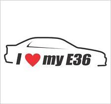 I Love My E36 Car Bumper Window Vinyl Decal Sticker BMW M3 323i 3 Series Euro