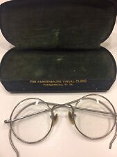 Vintage Old Wire Eyeglasses With Case