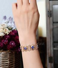 Nazar Blue Evil Eye Rosa Rose Gold Armband Armkette Magisches Auge Böser Blick
