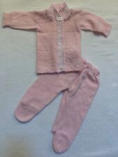 Vintage By Little Richie Knit Pink Sweater Outfit Size 0-6 Months~C2