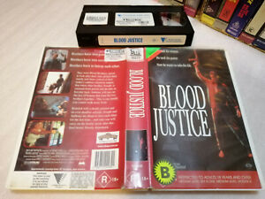 BLOOD JUSTICE (1995) RARE Australian Roadshow VHS Issue Obscure Action Thriller!