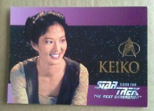 KEIKO O'BRIEN STAR TREK THE NEXT GENERATION SEASON FOUR EMBOSSED TRADING CARD S2