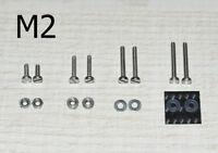 Phono Schrauben Set M2 für Headshell Tonabnehmer Plattenspieler Super Qualität -