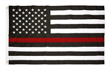 New listing United States America Flag Black and White with Red Stripe 3' x 5' Flag