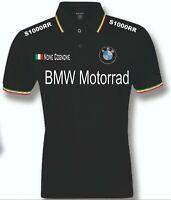 POLO UOMO BMW  S1000RR mens woman unisex S M L XL XXL personalizzato