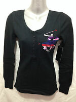 BNWT Womens Sz 1X/18 Beverly Hills Polo Club Black Long Sleeve Grandpa Style Top