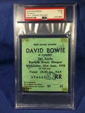 1978 David Bowie Concert Ticket The Apollo Glasgow Scotland PSA