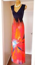 PHASE EIGHT Bright Floral Summer Holiday Beach Tea Party Long Maxi Dress Size 16