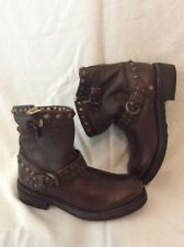 ASH Brown Ankle Leather Boots Size 37