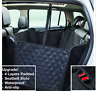 Waterproof Pet Car Back Seat Cover Hammock Padded Mat Dog Black Seatbelt Slot