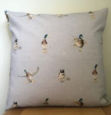 Wrendale Design **DUCK** Grey Cotton/Linen Blend Cushion Cover ~ 40cm
