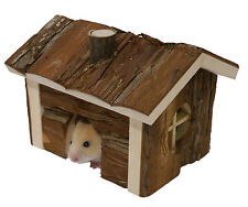 BOREDOM BREAKER MOUSE DWARF HAMSTER GERBIL FOREST CABIN CAGE HIDE NATURAL WOOD