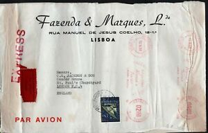 Portugal 1960 Large Cover Airmail Express to London Machine Cancels