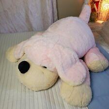 "36"" Jumbo FAO Schwarz Pink Penelope Puppy Plush Dog Stuffed Animal Huge Large"