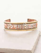 Om Namah Shivaya Shiva chant peace mantra HINDU YOGA brass copper BRACELET India