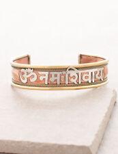 Om Namah Shivaya Shiva chant peace mantra HINDU YOGA brass copper BRACELET India
