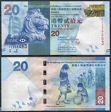 HONG KONG HSBC  20 Dólares 2012  Pick nuevo   SC /  UNC