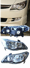 2006 -11 JDM Honda Civic BLack Housing DEPO CLear Lens Headlight Set +Bracket