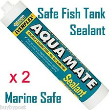 2 X MARINE SILICONE AQUARIUM ​FISH TANK POND SEALANT
