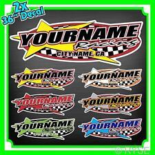 Custom Your Name Racing Decals Trailer Team Truck MX ATV Race Go Kart Boat Ski