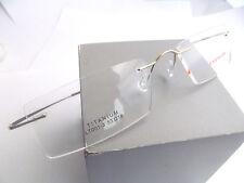 Luxury Titanium Gold Rimless Men Flexible Eyeglass Frame Eyewear Spectacles RX