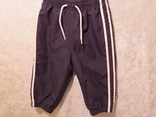 Gymboree  Black Track Athletic Wind Jersey Lined Pants, 6-12 mos.