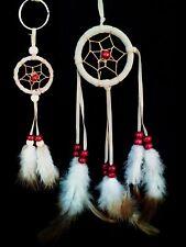HandmadDream Catcher with feathers car wall key ring hanging decoration ornament