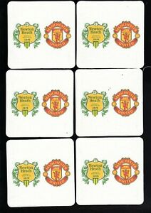 MANCHESTER UNITED / NEWTON HEATH Crests Pack of Beer Mats Coasters FREE Post UK