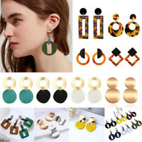 Boho Geometric Women Leopard Round Dangle Drop Hook Ear Stud Earrings Jewelry