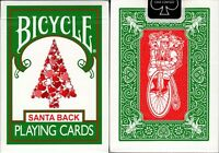 Santa Back Green Deck Bicycle Playing Cards Poker Size USPCC Limited Custom New