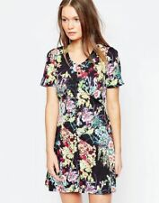 Yumi Ladies Button Detail Tea Dress in Floral Print UK 10