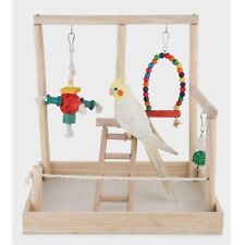Parrot Wooden Table Stand Perch Cage Decor Gym Playground Exercise Ladder Type 2