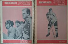 1971 - SPORTS VINTAGE LAFLEUR,ORR,HOCKEY SCRAPBOOK MONTREAL MATIN FRENCH