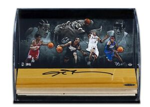 Allen Iverson Autographed Floor Piece Acrylic Display 76ers Sixers #/30 UDA