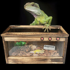 Large Reptile Cage Pet Turtle Wooden Habitat Lizard Insect House 80*40*40Cm Usa